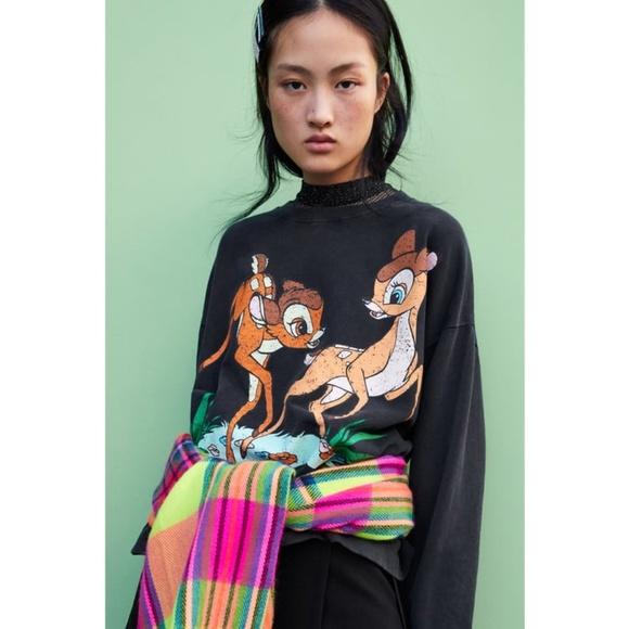 4166d4065c3f Zara Tops | Bambi Disney Sweatshirt | Poshmark